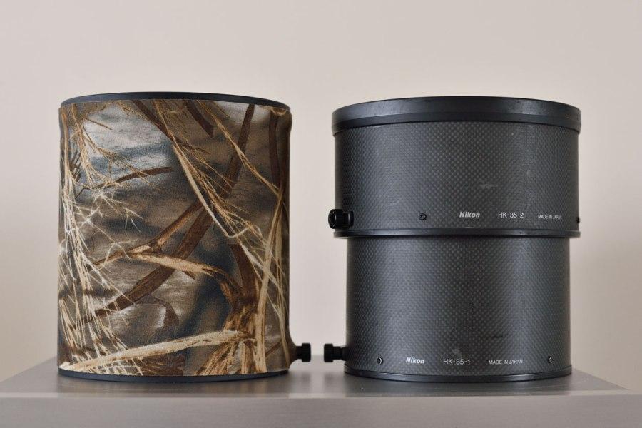 08- Nikon 600mm E vs Nikon 600mm G hood